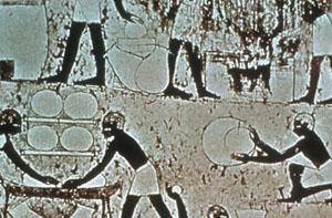 Ägypter beim Bierbrauen