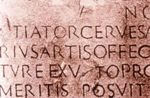 Inschrift der Römer