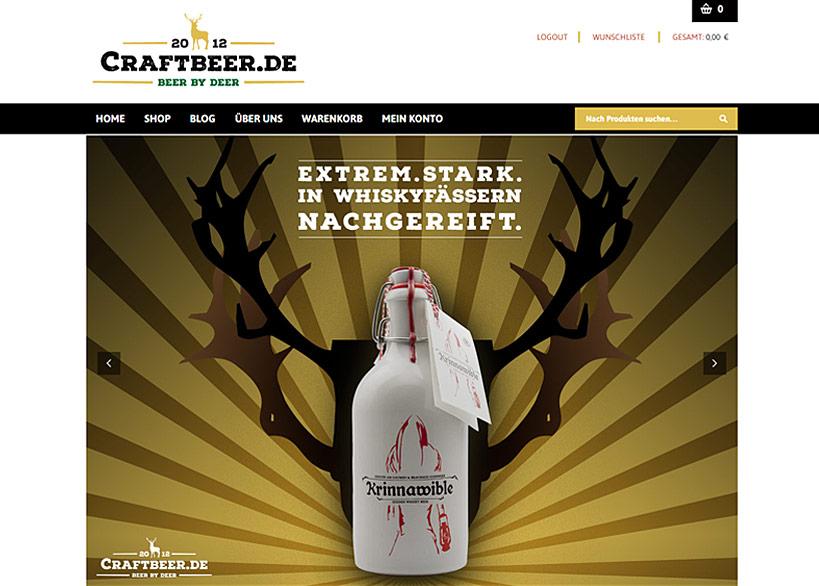 Bier.de - Craftbeer.de - neuer Onlineshop – neuer Look – neuer Partner